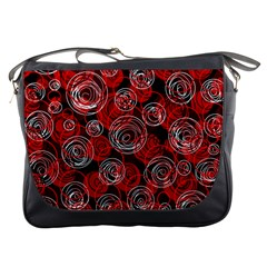 Red abstract decor Messenger Bags