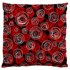 Red abstract decor Large Cushion Case (One Side)