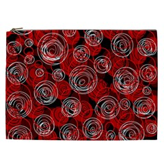 Red abstract decor Cosmetic Bag (XXL)
