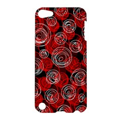 Red abstract decor Apple iPod Touch 5 Hardshell Case