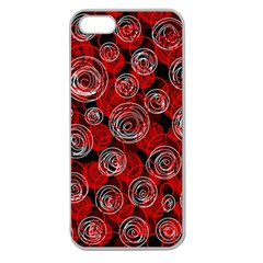 Red abstract decor Apple Seamless iPhone 5 Case (Clear)