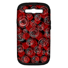 Red abstract decor Samsung Galaxy S III Hardshell Case (PC+Silicone)