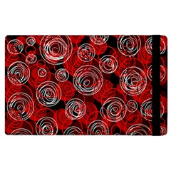 Red abstract decor Apple iPad 3/4 Flip Case