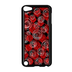 Red abstract decor Apple iPod Touch 5 Case (Black)