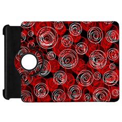 Red abstract decor Kindle Fire HD Flip 360 Case