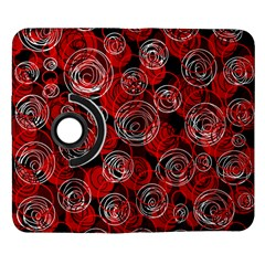 Red abstract decor Samsung Galaxy Note II Flip 360 Case