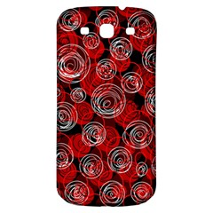 Red abstract decor Samsung Galaxy S3 S III Classic Hardshell Back Case