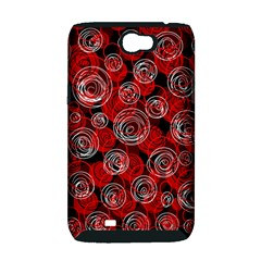 Red abstract decor Samsung Galaxy Note 2 Hardshell Case (PC+Silicone)