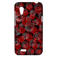 Red abstract decor HTC Desire VT (T328T) Hardshell Case