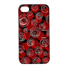 Red abstract decor Apple iPhone 4/4S Hardshell Case with Stand