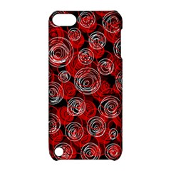 Red abstract decor Apple iPod Touch 5 Hardshell Case with Stand