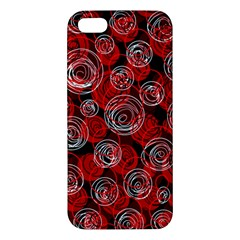 Red abstract decor Apple iPhone 5 Premium Hardshell Case
