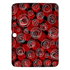 Red abstract decor Samsung Galaxy Tab 3 (10.1 ) P5200 Hardshell Case