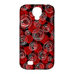 Red abstract decor Samsung Galaxy S4 Classic Hardshell Case (PC+Silicone)