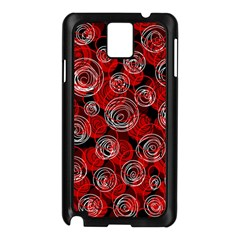 Red abstract decor Samsung Galaxy Note 3 N9005 Case (Black)