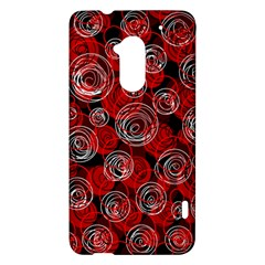 Red abstract decor HTC One Max (T6) Hardshell Case