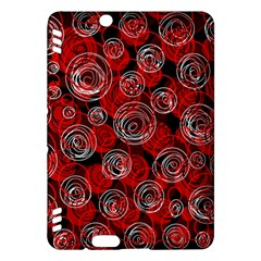 Red abstract decor Kindle Fire HDX Hardshell Case