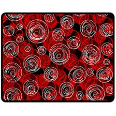 Red abstract decor Double Sided Fleece Blanket (Medium)