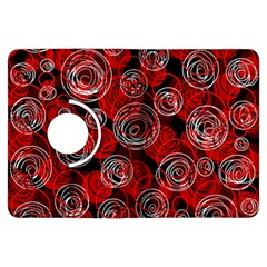 Red abstract decor Kindle Fire HDX Flip 360 Case