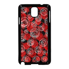 Red abstract decor Samsung Galaxy Note 3 Neo Hardshell Case (Black)