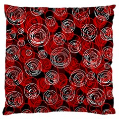 Red abstract decor Standard Flano Cushion Case (Two Sides)