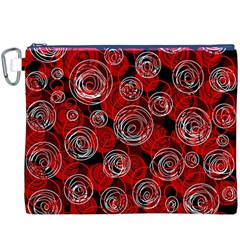 Red abstract decor Canvas Cosmetic Bag (XXXL)