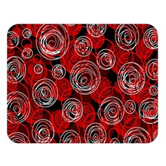 Red abstract decor Double Sided Flano Blanket (Large)