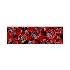 Red abstract decor Satin Scarf (Oblong)