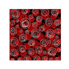Red abstract decor Small Satin Scarf (Square)