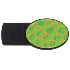 Green decorative art USB Flash Drive Oval (1 GB)