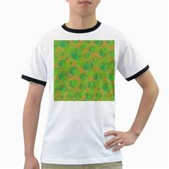 Green decorative art Ringer T-Shirts