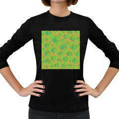Green decorative art Women s Long Sleeve Dark T-Shirts