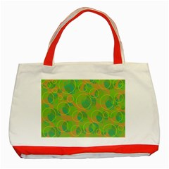 Green decorative art Classic Tote Bag (Red)