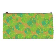 Green decorative art Pencil Cases