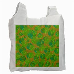 Green decorative art Recycle Bag (One Side)