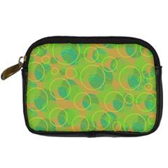 Green decorative art Digital Camera Cases