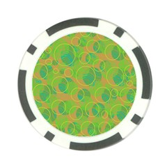 Green decorative art Poker Chip Card Guards (10 pack)