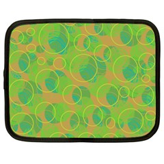 Green decorative art Netbook Case (XXL)