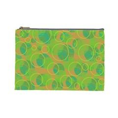 Green decorative art Cosmetic Bag (Large)