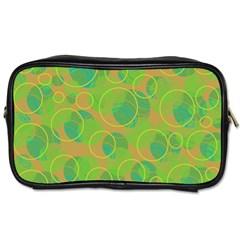 Green decorative art Toiletries Bags 2-Side