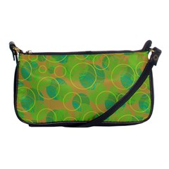 Green decorative art Shoulder Clutch Bags