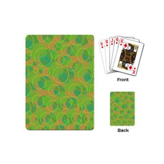 Green decorative art Playing Cards (Mini)