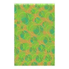 Green decorative art Shower Curtain 48  x 72  (Small)