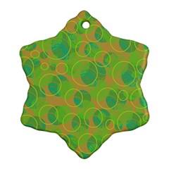 Green decorative art Ornament (Snowflake)