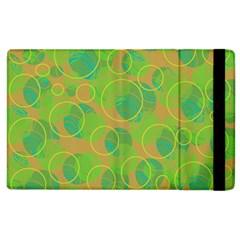 Green decorative art Apple iPad 3/4 Flip Case