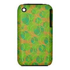 Green decorative art Apple iPhone 3G/3GS Hardshell Case (PC+Silicone)