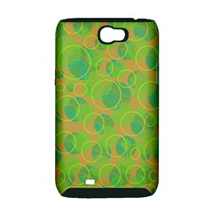 Green decorative art Samsung Galaxy Note 2 Hardshell Case (PC+Silicone)