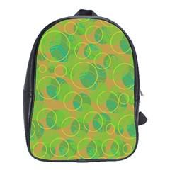 Green decorative art School Bags (XL)