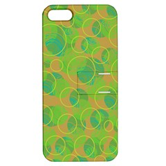 Green decorative art Apple iPhone 5 Hardshell Case with Stand