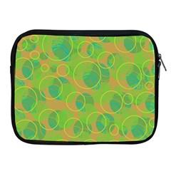 Green decorative art Apple iPad 2/3/4 Zipper Cases